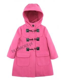 Śliczny różowy płaszczyk dla dziewczynki 98-134