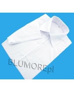 Elegancka biała koszula krótki rękaw dla chłopca 110 - 146