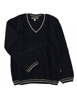 Elegancki  granatowy sweter dla chłopca 110 - 146