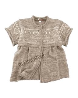 Praktyczny beżowy sweter dla dziewczynki 68 - 104