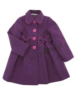 Wytworny fioletowy płaszczyk dla dziewczynki 92-128
