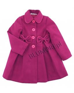 Wytworny różowy płaszczyk dla dziewczynki 92-128