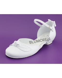 Śnieżno białe buty na komunię dla dziewczynki 31 - 38