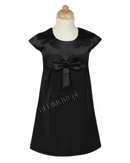 Piękna czarna wizytowa sukienka dla dziewczynki 116 - 152