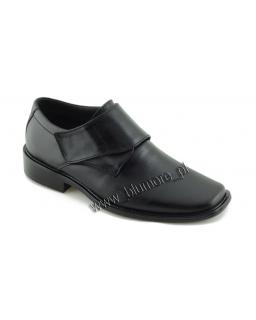Czarne wizytowe buty chłopięce zapinane na rzep 31 - 36