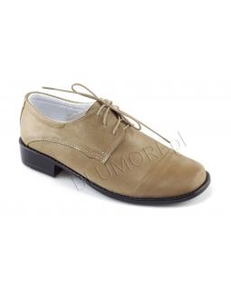 Ekskluzywne beżowe pantofle dla chłopca 27 - 38 Igor
