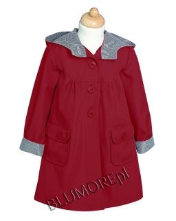 Czerwony płaszczyk dla dziewczynki 86 - 134 Anastazja