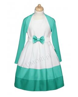 Sukienka z bolerkiem - komplet dziewczęcy 128 - 158 Wiktoria