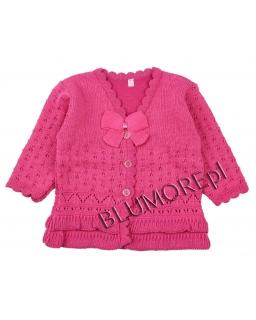 Wizytowy sweterek dla dziewczynki do sukienki 56 - 104 Migotka
