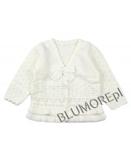 Wizytowy sweterek dla dziewczynki do chrztu 56 - 104 Migotka