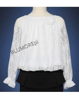 Hit - biała bluzka koronkowa 122 - 158 Pamela
