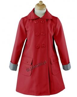 Czerwony płaszczyk dla dziewczynki 86 - 134 Honoratka