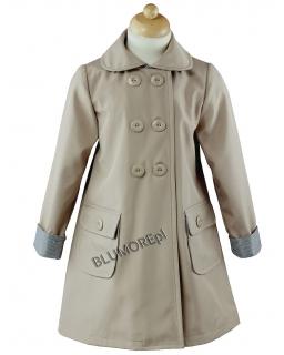 Beżowy płaszczyk dla dziewczynki 86 - 134 Honoratka