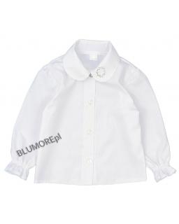 Biała bluzeczka z cyrkoniami dla dziewczynki 98 - 128 Ewa