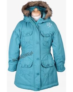 Ciepły zimowy płaszcz - kurtka 110 - 134 Sintia