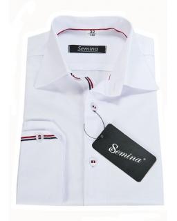 Koszula chłopięca slim biała długi rękaw