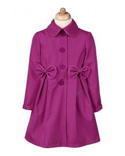 Szary płaszczyk na święta dla dziewczynki 86 - 134