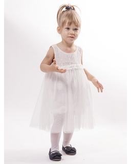 Zwiewna sukienka tiulowo-koronkowa 74 - 122 Mila
