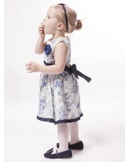 Marszczona sukienka z broszką 74 - 122 Florcia