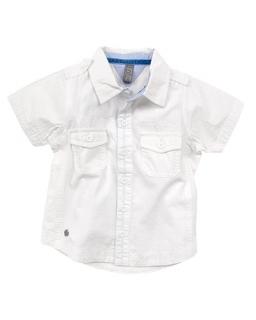 Biała koszula dla chłopca krótki rękaw 74 - 122 KS3