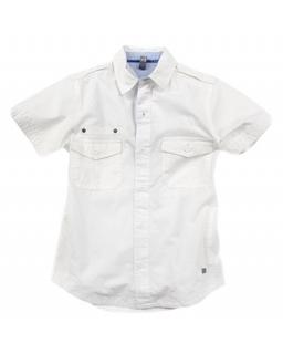 Biała koszula elegancko-sportowa 128 - 164 KS4
