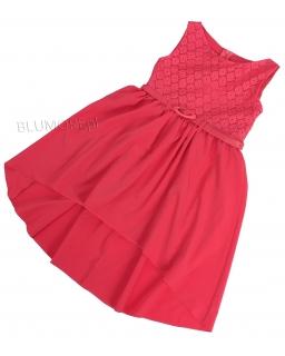 Zwiewna sukienka z krótszym przodem 116 - 152 Ewa