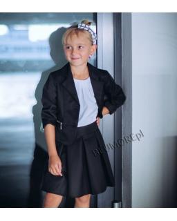 Super komplecik żakiet i spódniczka 134 - 158 Lena czarny