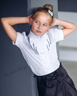 Bluzeczka na akademie szkolne 128 - 152 Renatka biała