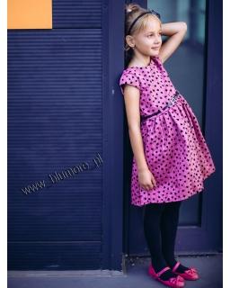 Elegancka i urocza sukienka w serduszka 62 - 146 Rozalia róż