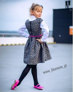Elegancka i urocza sukienka w serduszka 62 - 146 Rozalia popiel