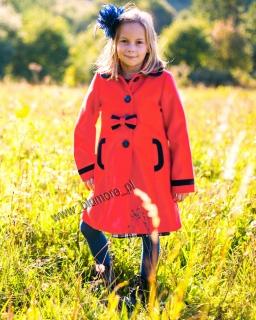 Elegancki płaszczyk dla dziewczynki 86 - 140 Virginia morela
