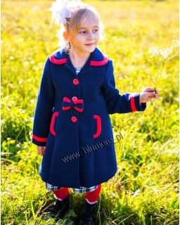 Elegancki płaszczyk dla dziewczynki 86 - 140 Virginia granat