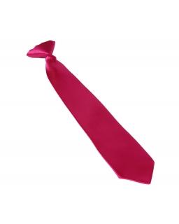 Krawat dziecięcy na gumce srebrny 33 cm