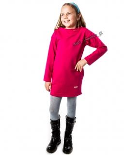 Sukienka dresowa z kieszeniami 110 - 158 Aleksja różowa