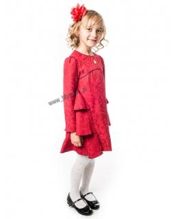 Wykwintna sukienka wyjściowa 128 - 152 Seweryna czerwona