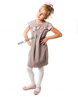 Mega elegancka sukienka tuba 128 - 152 Fila brązowa