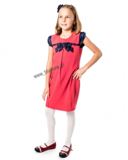 Elegancka sukienka dziewczęca 128 - 152 Fila malinowa