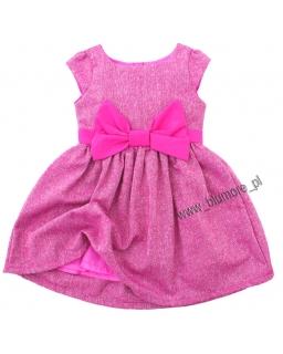 Sukienka dla dziewczynki z kokardą 74 - 140 Ksenia róż