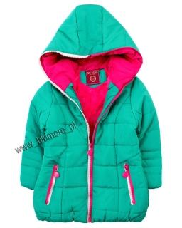 Kurtka zimowa dla dziewczynki 104 - 152 kdz01 zielona