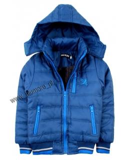 Kurtka dla chłopca na zimę 104 - 152 kch01 niebieska