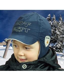 Modna wiązana czapka z daszkiem dla chłopca 46