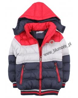 Ciepła kurtka na zimę 104 - 152 kch02 czerwona