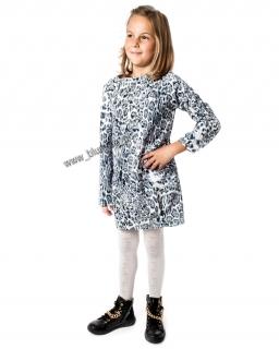 Czaderska sukienka z łańcuchem 134 - 158 Oliwia szara