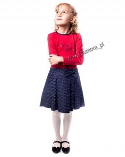 Wygodna sukienka do przedszkola 98 - 134 Agata czerwień