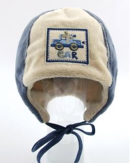 Delikatna polarowa wiązana czapka dla chłopca 46
