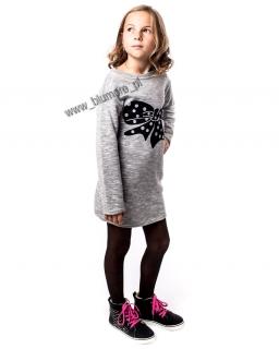 Sukienka dla dziewczynki a'la bluza 122 - 158 Ania szara