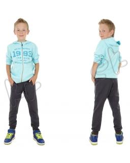 Spodnie dresowe dla chłopca 110 - 146 spd01 grafit