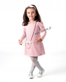 Elegancka sukienka z dresówki, hit 98 - 122 Kerstin róż