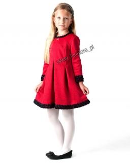 Unikatowa sukienka wizytowa 128 - 152 Roksana czerwona