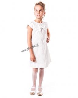 Cudna sukienka koronkowa 128 - 152 Ewelina ecru